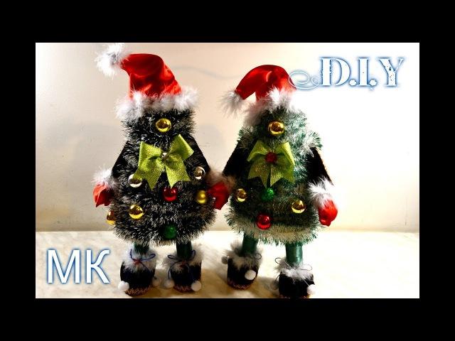 🎄Елочки-Санты своими руками🎄DIYTutorial🎄How To Make Christmas Tree🎄
