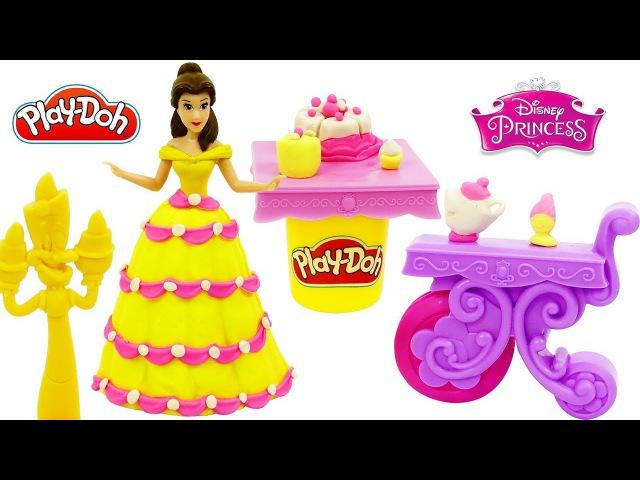 Пластилин Play Doh Банкет Принцессы Диснея Белль Платье для куклы Поделки из пласти
