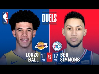 Lonzo Ball & Ben Simmons Battle It Out in Philly | December 7, 2017