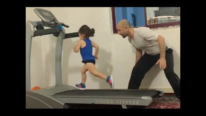Amazing Kid || Treadmill Goal Video Ever || 2017