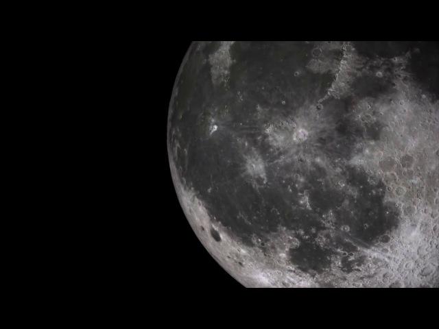 Moon spaceship ufo- ovni en la luna. 2018