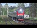 Электровоз ЭП20-034 с поездом№107М Москва-Брянск станция Нара 23.06.2017