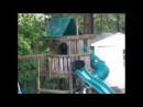 Bear and her cubs playing on our trampoline and in the treehouse in CT! - Medium.m4v