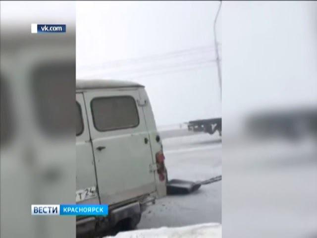 ДТП на Коммунальном мосту привели к пробкам в центре Красноярска