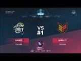 Spirit vs Effect RU #1 (bo3) ESL One Katowice 2018 Major CIS Qual 11.01.2018