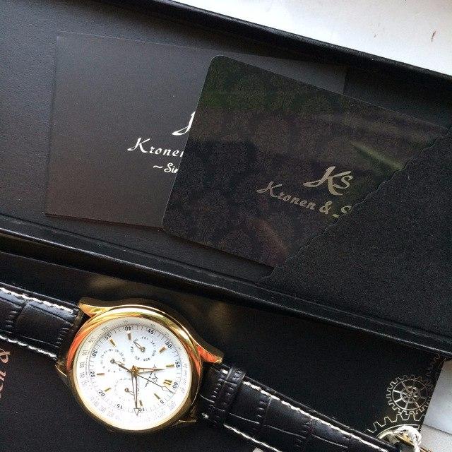 Мои любимые механические наручные часы с кожаным ремешком Kronen &Sohne