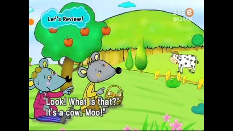 Мышь деревенская и мышь городская. Сказка на английском языке с субтитрами.