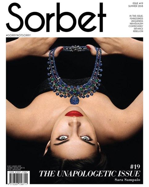 Сара Сампайо в съемке для Sorbet Magazine / 2018