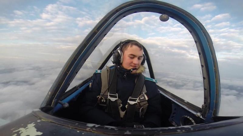 первый полёт на як-52 с высшим пилотажем