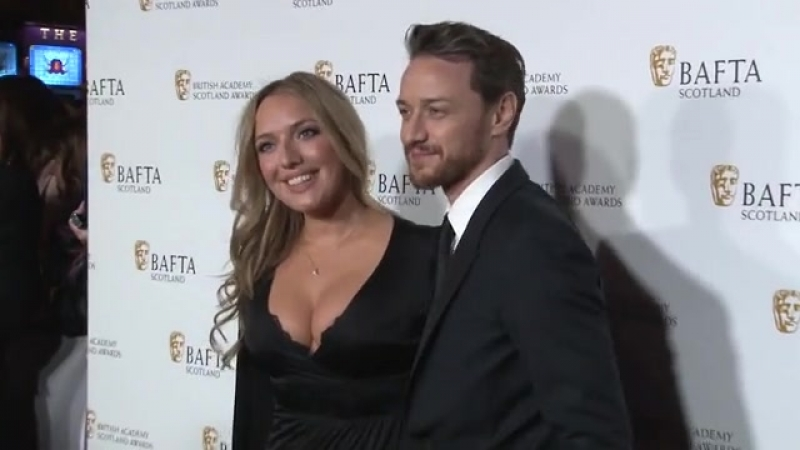 James McAvoy attends the Scottish Baftas with his sister Joy