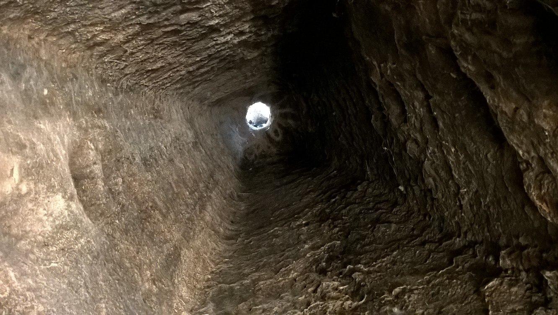 Вентиляционная шахта в подземном городе Татларын