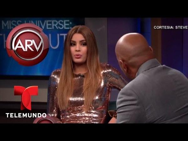 Ariadna Gutiérrez llora tras encuentro con Steve Harvey Al Rojo Vivo Telemundo