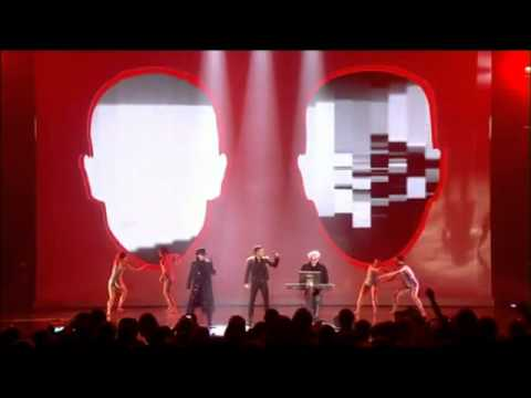 Pet Shop Boys Brandon Flowers Its a sin Live At Brit Awards 2009.flv