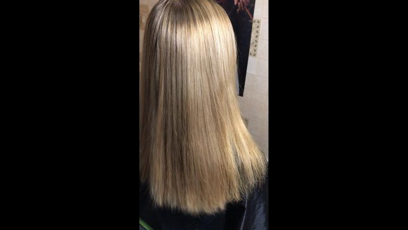 ✨новый ботокс для волос Felps XBTX Okra Mass с 80% выпрямлением ✨ для светлых девушек и блондинок имеет анти-жёлтый эффект.