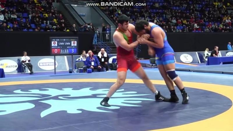 Киевский 2018, 1/8 final - Orxan Nuriyev - Vaginak Minasyan (ARM) 5:3 (97 кг)