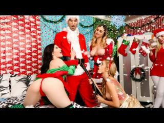 Elektra Rose, Jenna Reid, Kali Roses - Xxxmas [HD porn, sex, party, orgy, big ass, natural tits, boobs, oral, lesbian, hardcore]