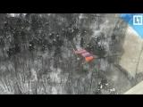 Парашютист застрял на дереве в Москве