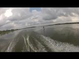 Пример катания на вейкборде!