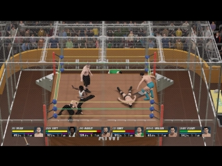 6-Man Hell in a Cell-Young Star Title-WWE 2K16