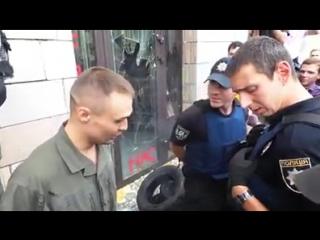 Киев. Русские кричалки кострюлеголовых и разгром магазина