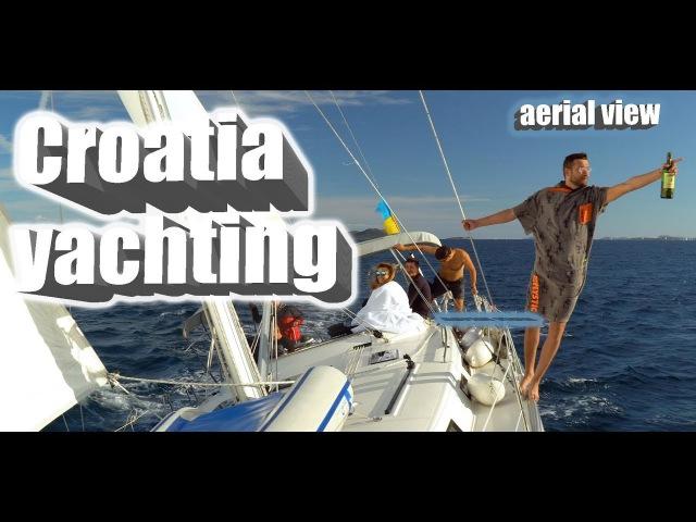 Croatia yachting. Aerial view.