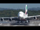 Unbelieveable AIRBUS A380 HARD CROSSWIND LANDING during a STORM at Düsseldorf 4K
