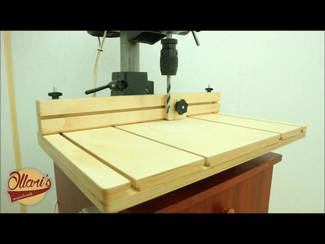 Making a Drill Press Table and Fence Cheap and Easy