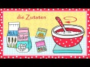 Deutsch lernen Kuchenrezept zum Backen für Kinder learn German cake recipe