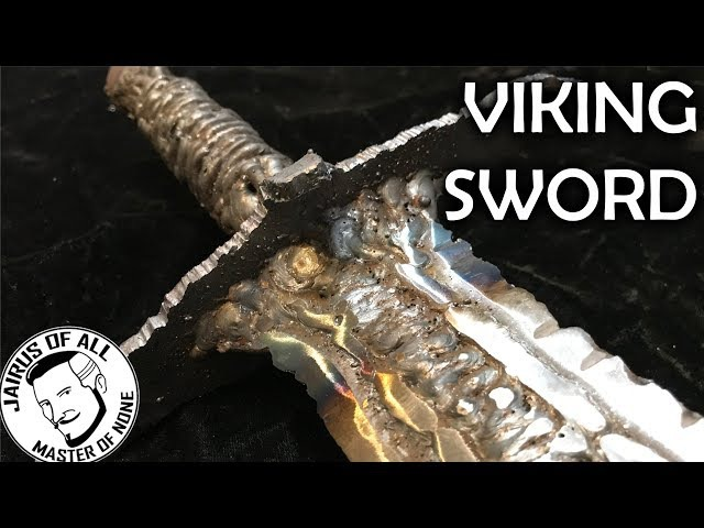 VIKING SWORD FROM SCRAP - No Forge Just Weld