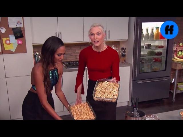 Kooking with Karlie - Caramel Popcorn   Movie Night with Karlie Kloss   Freeform