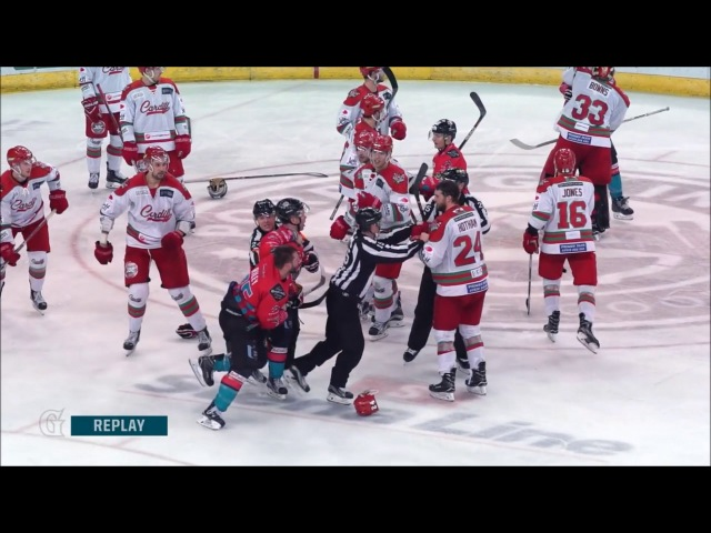 Gotta see it: Cardiff Devils Vs Belfast Giants End of Game Bench Clearance