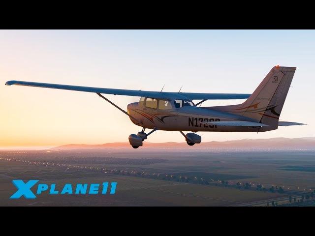 ВЕЧЕРНИЙ ПЕРЕЛЕТ ДО ОСТРОВНОГО АЭРОПОРТА! / KCMA (Camarillo) - KNSI / CESSNA 172 | X-Plane 11 2