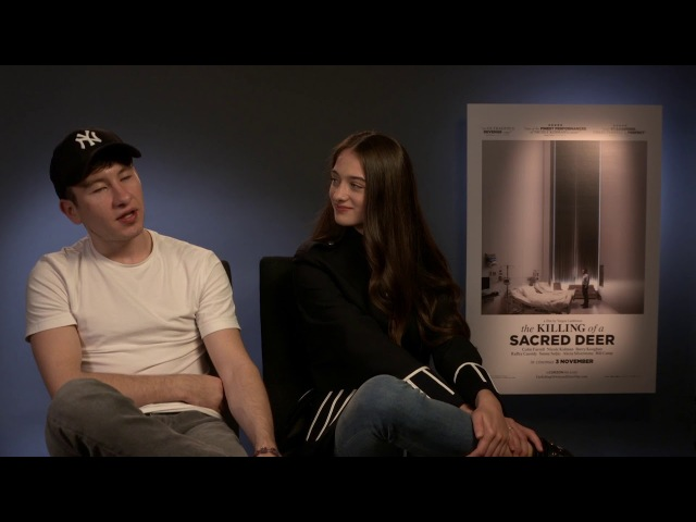 Barry Keoghan Raffey Cassidy Interview- The Killing of a Sacred Deer Interview