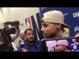 Stephen Curry Postgame Interview / GS Warriors vs Hawks