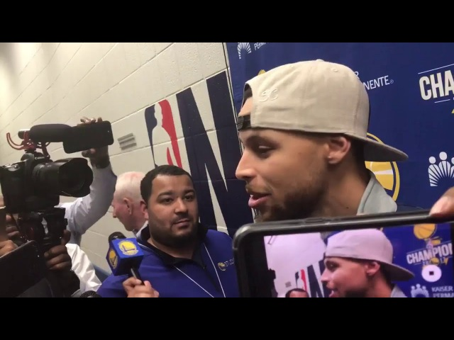 Stephen Curry Postgame Interview GS Warriors vs Hawks