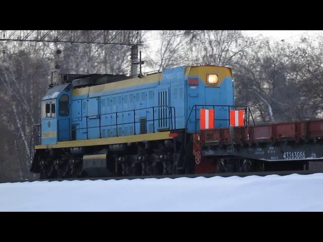 Манёвры ТЭМ18ДМ-502 по станции Клещиха