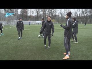 Тренировка «Зенита» перед матчем против «Тосно»