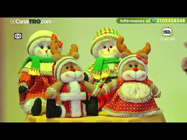 Adorno navideño con material reciclable - Muñeca de nieve