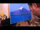 Игорь Сахаров, горный пейзаж маслом, научиться писать горы