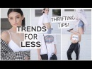 How to Thrift Fashion Trends | Haul, Shopping Vlog, Mini LookBook!