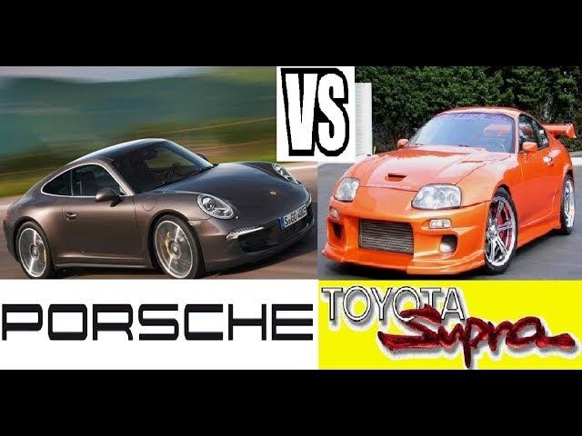 Toyota Supra vs 911 Porsches\\\ТАЕТА ПРОТИВ СУПРА ПРОТИВ ПОРШЕ 911