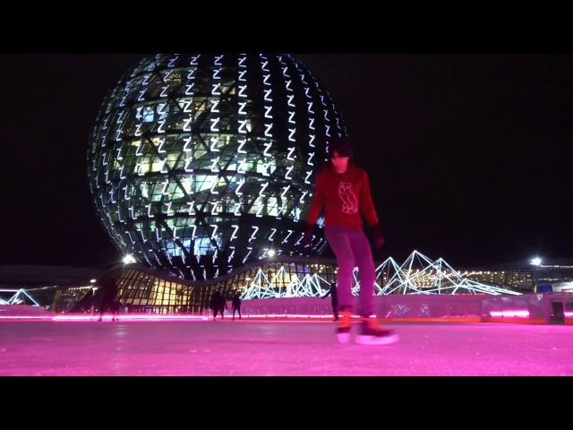 Freestyle ice skating каток Expo2017 ice rink