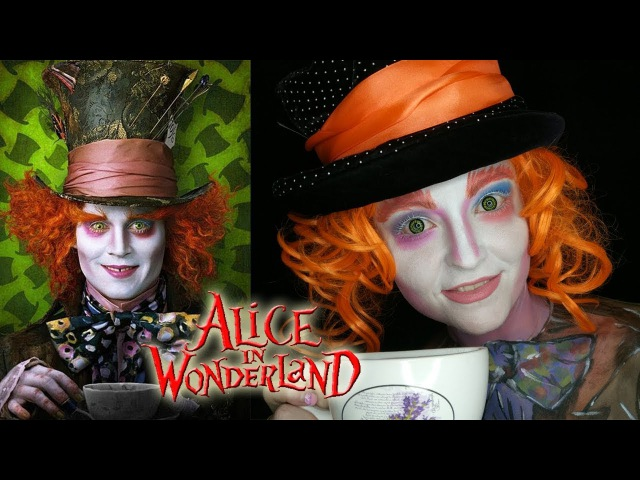 Макияж Безумный Шляпник из Алисы в стране чудес Makeup Tutorial mad Hatter