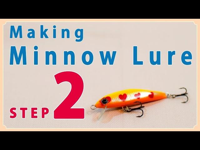 Making Small Minnow Lure (step2) / バルサ材で自作する小型ミノーの作り方(ステップ2)