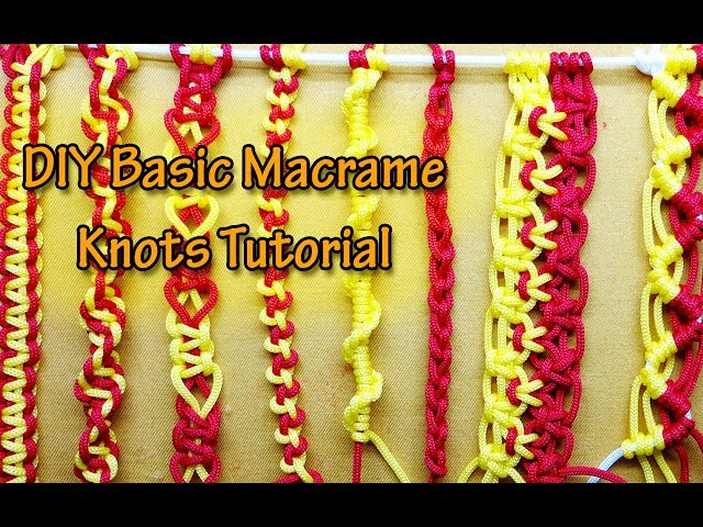 How to tie the basic knots of Macramé - Basic macrame knots for Beginners - Macrame Projects