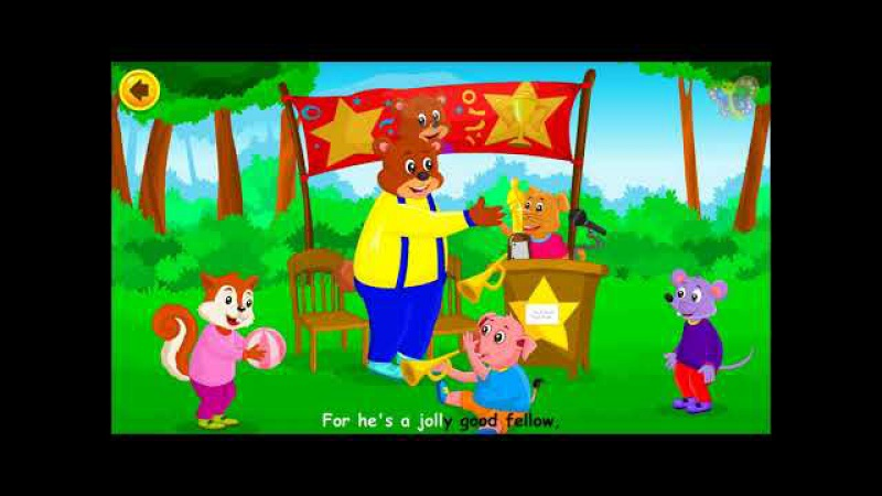 For He's a Jolly Good Fellow | English Nursery Rhymes with Lyrics | Original Kids Songs from BooBoo