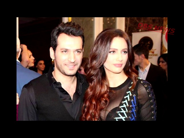 Мурат Йылдырым и его жена Иман Элбани на новогодней вечеринке газеты Sabah Gunaydin