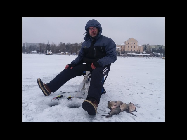 Зимова рибалка на Тернопільському озері ЧАСТИНА 1