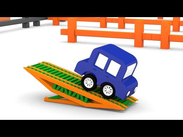 Dessin animé pour enfants de 4 voitures colorées: Camion Poubelle