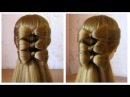 Coiffure avec noeud papillon cheveux long 🎀 Hair bow tutorial 🎀 Hairstyle for long hair